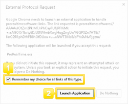 Launch ProRealTime with Google Chrome