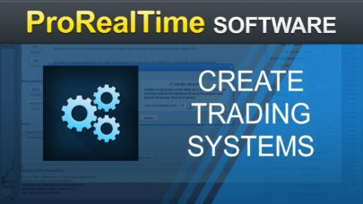 How to create a trading system without programming – ProRealTime 10.3