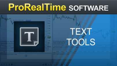 Adding texts to charts – ProRealTime 10.3