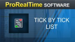 Tick by tick list – ProRealTime 10.3