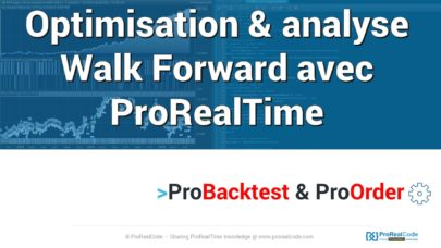 Analyse Walk Forward avec ProRealTime