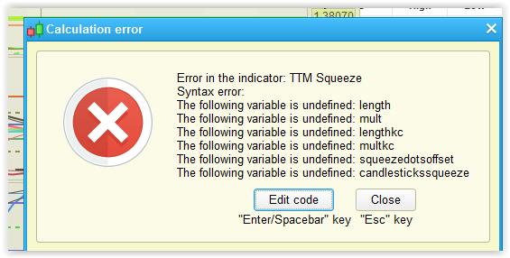 TTM Squeeze Oscillator_not working | ProRealTime trading